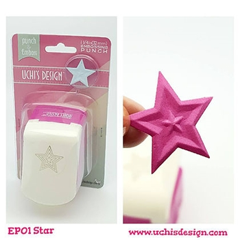 Uchi's Design STAR Embossing Punch EP01