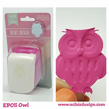 Uchi's Design OWL Embossing Punch EP05