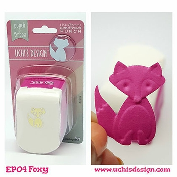 Uchi's Design FOXY Embossing Punch EP04