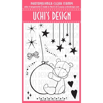 Uchi's Design HAPPY HIPPO Clear Stamp N70