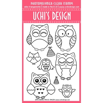 Uchi's Design OWLS Clear Stamp A214