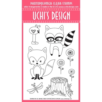 Uchi's Design FOREST CRITTERS Clear Stamp A403