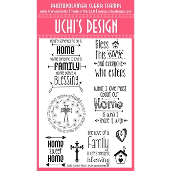 Uchi's Design HOME AND FAMILY Clear Stamp R102