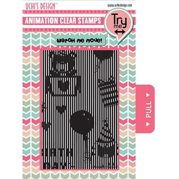 Uchi's Design HAPPY BIRTHDAY Animation Clear Stamps AS1