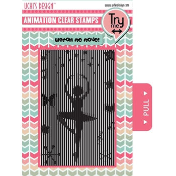 Uchi's Design DANCING BALLERINA Animation Clear Stamps AS2