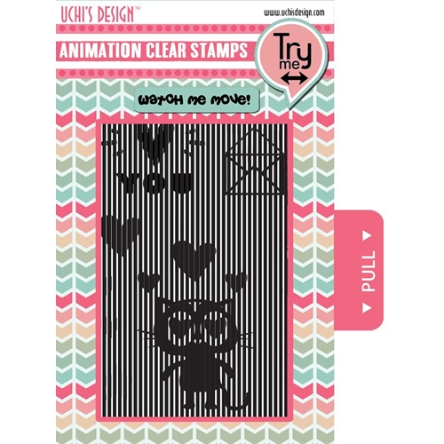 Uchi's Design LOVING CAT Animation Clear Stamps AS3 Preview Image