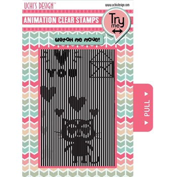 Uchi's Design LOVING CAT Animation Clear Stamps AS3