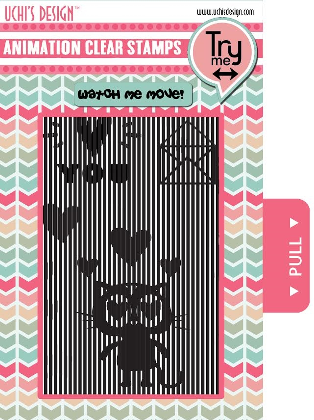 Uchi's Design LOVING CAT Animation Clear Stamps AS3 zoom image