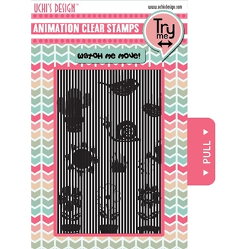 Uchi's Design GROWING FLOWER GARDEN Animation Clear Stamps AS5