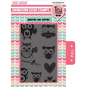 Uchi's Design OWLS Animation Clear Stamps AS6