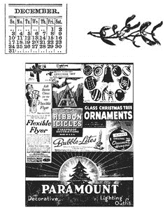 Tim Holtz Cling Rubber Stamps HOLIDAYS PAST Stampers Anonymous