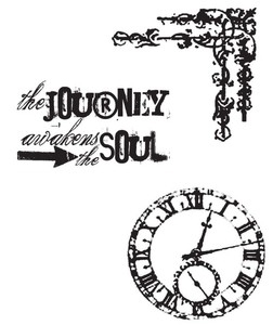 Tim Holtz Cling Rubber Stamps SOULFUL JOURNEY Stampers Anonymous CMS029 Preview Image
