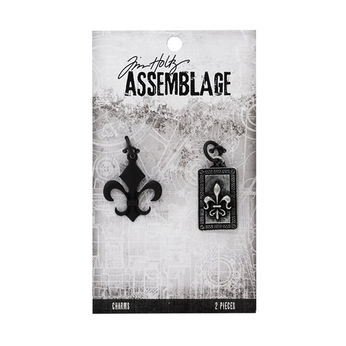 Tim Holtz Assemblage PACK OF 2 FLEUR DE LIS CHARMS THA20030 Preview Image