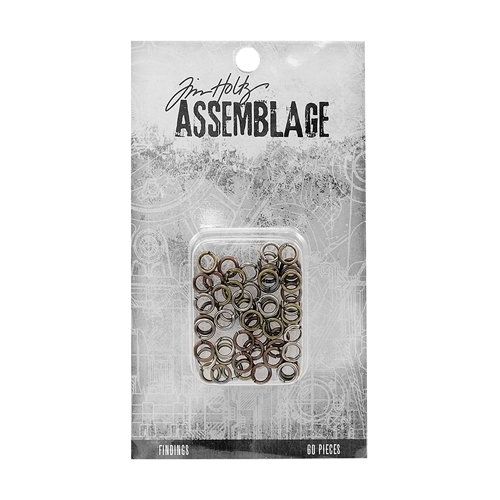 Tim Holtz Assemblage PACK OF 60 JUMP RINGS FINDINGS ASSORTED THA20063 Preview Image