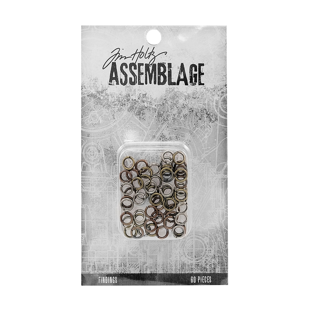 Tim Holtz Assemblage PACK OF 60 JUMP RINGS FINDINGS ASSORTED THA20063 zoom image