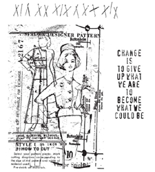 Tim Holtz Cling Rubber Stamps PATTERN PIECES Stampers Anonymous zoom image