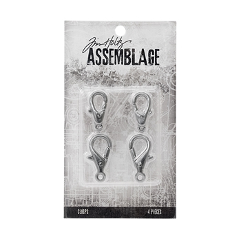 Tim Holtz Assemblage PACK OF 4 LARGE LOBSTER CLAWS CLASPS THA20053