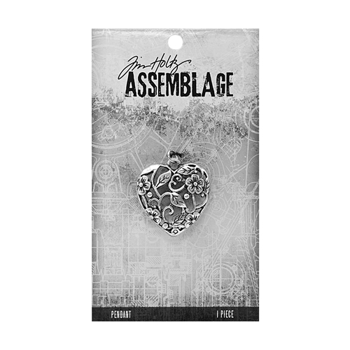 Tim Holtz Assemblage ORNATE HEART PENDANT THA20076 Preview Image