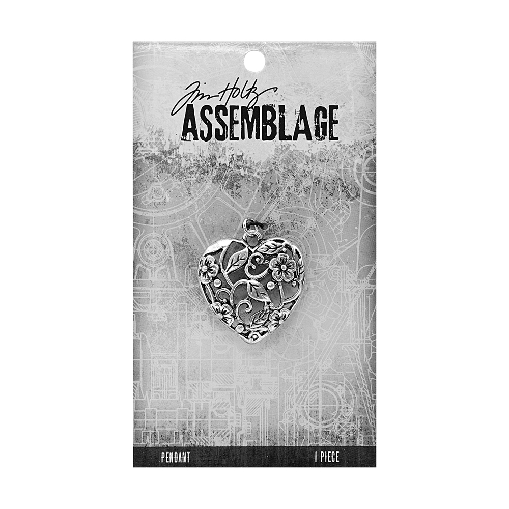 Tim Holtz Assemblage ORNATE HEART PENDANT THA20076 zoom image