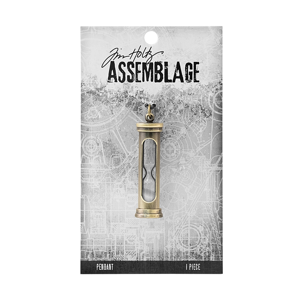 Tim Holtz Assemblage HOURGLASS PENDANT THA20075 zoom image