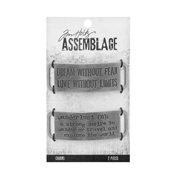 Tim Holtz Assemblage PACK OF 2 METAL BANDS CHARMS THA20039