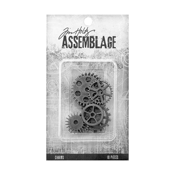Tim Holtz Assemblage PACK OF 10 GEARS AND COGS CHARMS THA20031