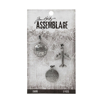 Tim Holtz Assemblage PACK OF 3 JOURNEY CHARMS THA20035