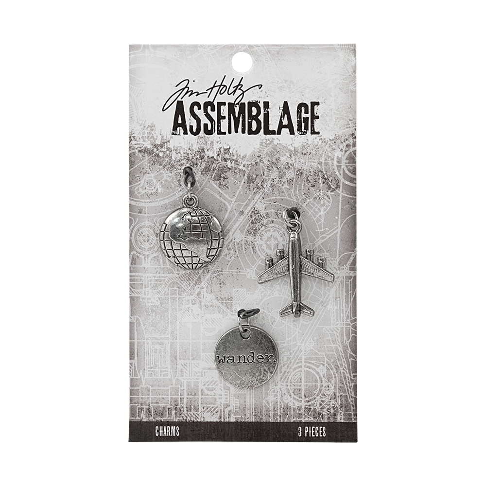 Tim Holtz Assemblage PACK OF 3 JOURNEY CHARMS THA20035 zoom image