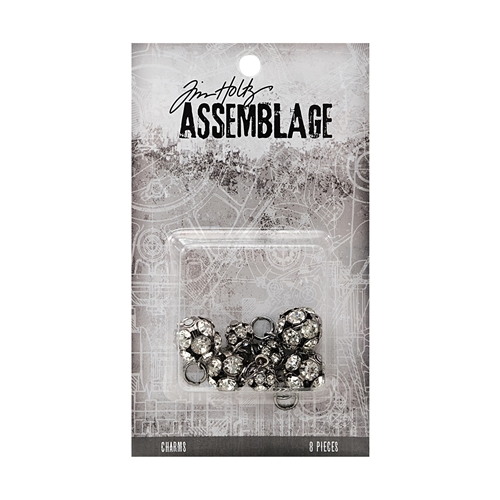 Tim Holtz Assemblage PACK OF 8 SPARKLING RONDELLS CHARMS THA20046 Preview Image