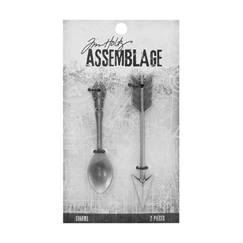 Tim Holtz Assemblage PACK OF 2 SPOON AND ARROW CHARMS THA20047