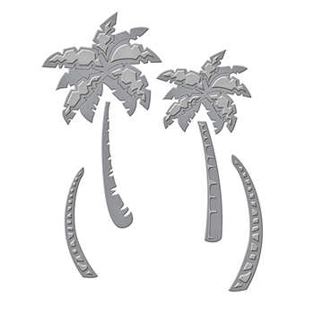 S3-249 Spellbinders PALM TREES Etched Dies Tropical Paradise by Lene Lok