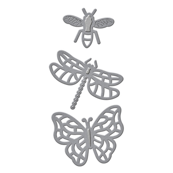 S1-026 Spellbinders FLYING BUGS Etched Dies