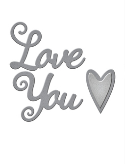 S1-024 Spellbinders LOVE YOU Etched Dies