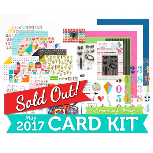 Simon Says Stamp Card Kit of The Month MAY 2017 ANIMATION CK0517 Preview Image
