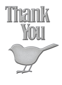 S1-020 Spellbinders THANK YOU Etched Dies