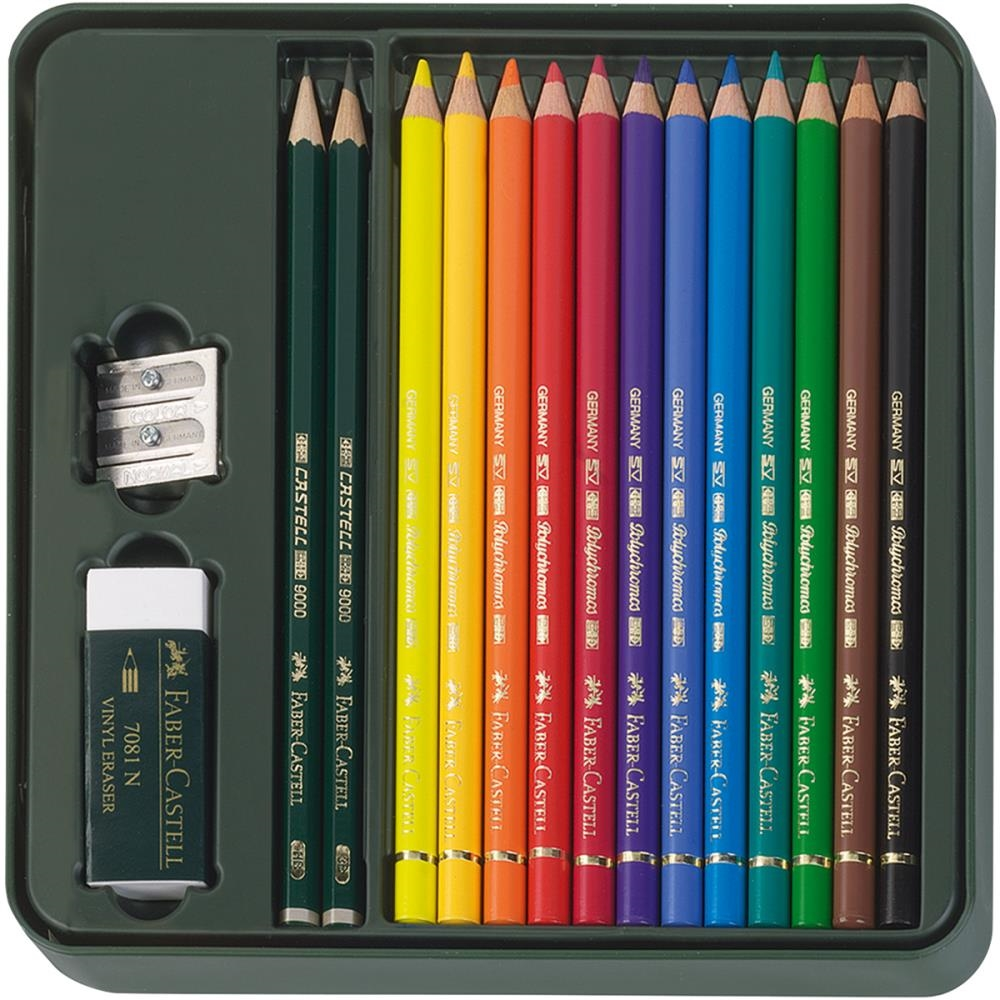 Faber-Castell POLYCHROMOS COLORED PENCILS Mixed Media Set 110040 zoom image
