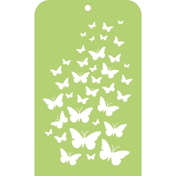 Kaisercraft BUTTERFLY SKIES Mini Designer Stencil Template IT011