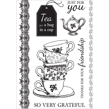 Kaisercraft TEA PARTY Clear Stamps CS286