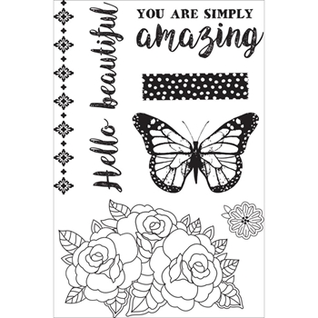 Kaisercraft INDIGO SKIES Clear Stamps CS287