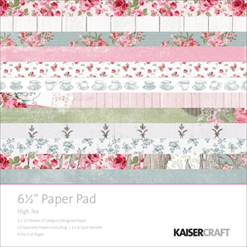 Kaisercraft HIGH TEA 6.5 x 6.5 Paper Pad PP1017