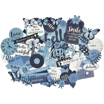 Kasiercraft INDIGO SKIES Die Cut Shapes CT880