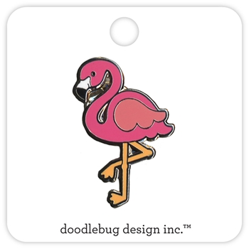 Doodlebug PINK FLAMINGO Collectable Pin 5303