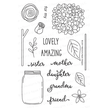 Newton's Nook Designs LOVELY BLOOMS Clear Stamp Set 20170402