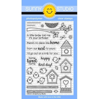 Sunny Studio A BIRDS LIFE Clear Stamp Set SSCL160