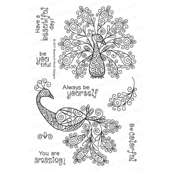 Newton's Nook Designs BEAUTIFUL PLUMAGE Clear Stamp Set 20170401