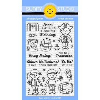 Sunny Studio PIRATE PALS Clear Stamp Set SSCL159