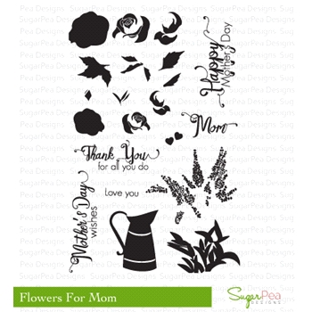 SugarPea Designs FLOWERS FOR MOM Clear Stamp Set SPD00192