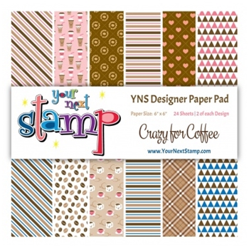 Your Next Stamp CRAZY FOR COFFEE 6X6 Paper Pack YNSPP011