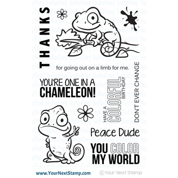 Your Next Stamp ONE IN A CHAMELEON Clear Stamp CYNS548