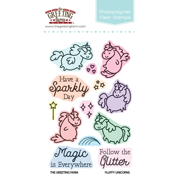 The Greeting Farm FLUFFY UNICORNS Clear Stamps TGF304